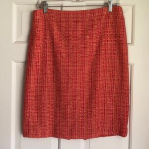 J. Crew coral pencil skirt size 6